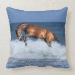 Fantasy Horses: Selle Francais & Sea Throw Pillows