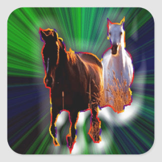 Fantasy Horses Square Sticker