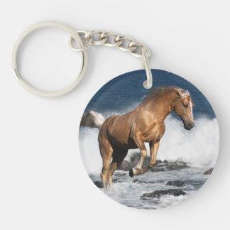 Fantasy Horses: Summer Splash Double-Sided Round Acrylic Keychain