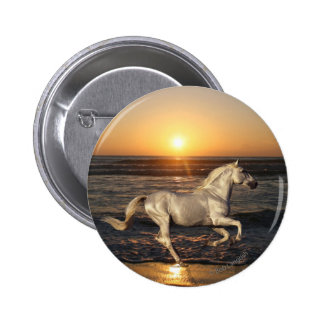 Fantasy Horses: Sunset 2 Inch Round Button