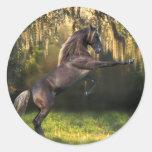 Fantasy Horses: Warrior Prince Round Stickers
