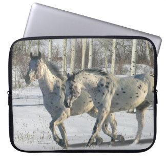 Fantasy Horses: Winter Wonderland Computer Sleeve
