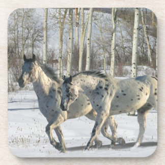 Fantasy Horses: Winter Wonderland Drink Coaster