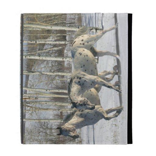 Fantasy Horses: Winter Wonderland iPad Case