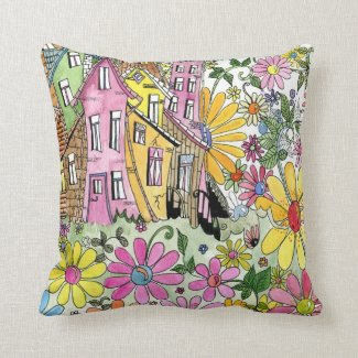 Fantasy House Throw Pillows