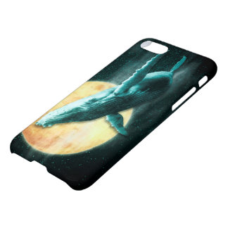 Fantasy Humpback Whale Flying to The Moon iPhone 8/7 Case