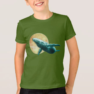 Fantasy Humpback Whale Flying to The Moon Shirts