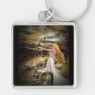 Fantasy Huntress Keychain