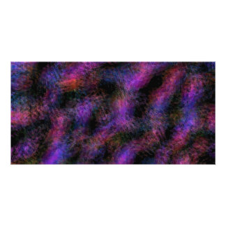 Fantasy In Black and Pink Abstract Card