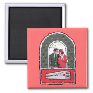 Fantasy in Singlewide 2 Inch Square Magnet