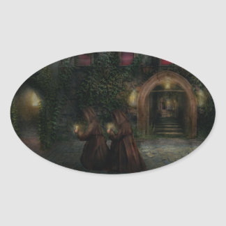 Fantasy - Into the night Oval Sticker