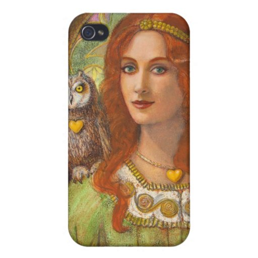 Fantasy iphone 4 case, Wise Owl & Celtic Woman iPhone 4/4S Cover