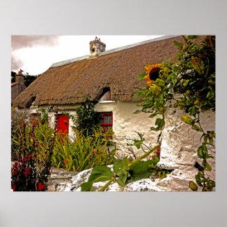 Fantasy Irish cottage Poster