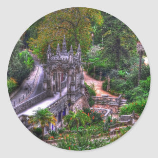 fantasy island classic round sticker