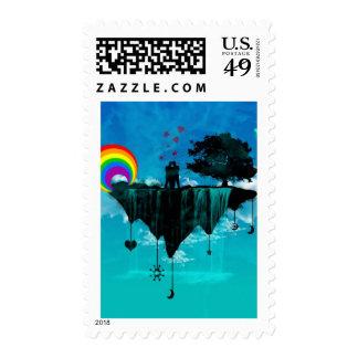 Fantasy Island Postage Stamp
