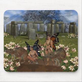 Fantasy, keepers of the faith, fairy Avalon guards Mouse Pad