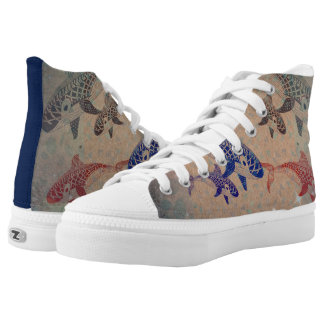 Fantasy Killer Whale High top tennis shoes Printed Shoes