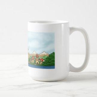 fantasy kingdom landscape basic mug