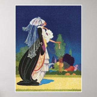 Fantasy Lady Vintage Poster