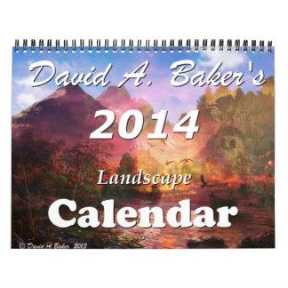 Fantasy land calendar by artist David A. Baker
