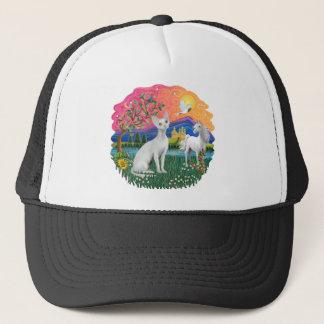 Fantasy Land (ff) - Devonshire Rex cat Trucker Hat