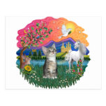 Fantasy Land (ff) - Kitten (silver tabby) Postcard