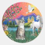 Fantasy Land (ff) - Kitten (silver tabby) Sticker