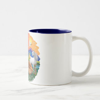 Fantasy Land (ff) - Maine Coon cat (red) Two-Tone Coffee Mug