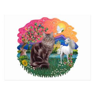 Fantasy Land (ff) - Maine Coon cat (tabby 10) Postcard