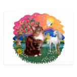 Fantasy Land (ff) - Maine Coon cat (tabby) Postcards