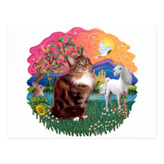 Fantasy Land (ff) - Maine Coon cat (tabby) Postcard