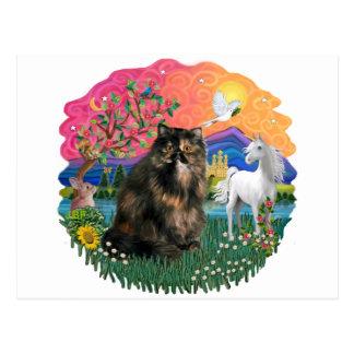 Fantasy Land (ff) - Persian Tortie cat 18 Postcard