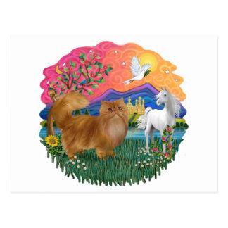 Fantasy Land (ff) - red Persian cat Postcard