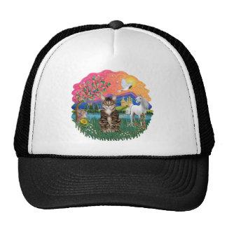 Fantasy Land (ff) - Tabby cat (brown) Trucker Hat