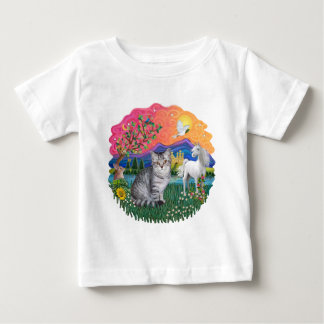 Fantasy Land (ff) - Tabby cat (silver) Baby T-Shirt