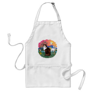 Fantasy Land (ff) - Tortie Calico cat Adult Apron