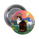 Fantasy Land (ff) - Tortie Calico cat Buttons