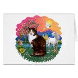Fantasy Land (ff) - Tortie Calico cat Card