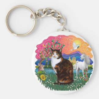 Fantasy Land (ff) - Tortie Calico cat Keychain