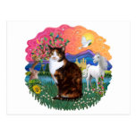 Fantasy Land (ff) - Tortie Calico cat Post Cards