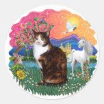Fantasy Land (ff) - Tortie Calico cat Sticker