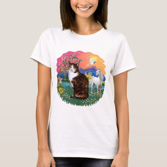 Fantasy Land (ff) - Tortie Calico cat T-Shirt