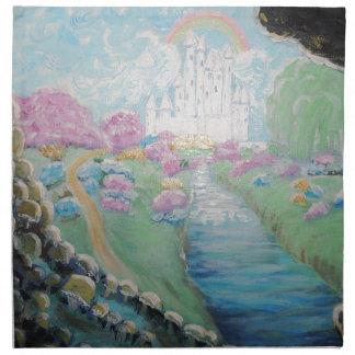 Fantasy land Original Acrylic Painting Napkin