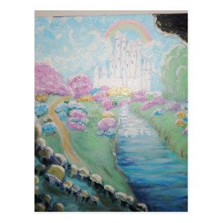 Fantasy land Original Acrylic Painting Postcard