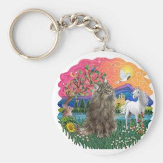Fantasy land pp - Norwegian Forest cat 20 Key Chains