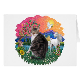 Fantasy Land - Tabby and White cat (AmSH) Card