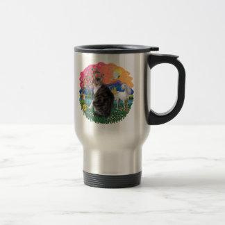 Fantasy Land - Tabby and White cat (AmSH) 15 Oz Stainless Steel Travel Mug