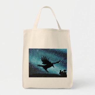 Fantasy Landing Raven Crow Artwork Tote Bag