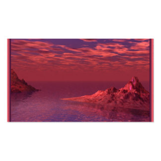 Fantasy Landscape - Mountains at Dawn Double-Sided Standard Business Cards (Pack Of 100)