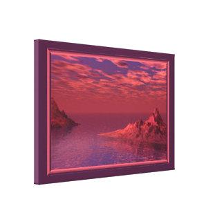 Fantasy Landscape - Mountains at Dawn Canvas Print